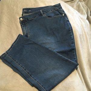 Avenue Denim Medium Wash Skinny Jeans Size 32W